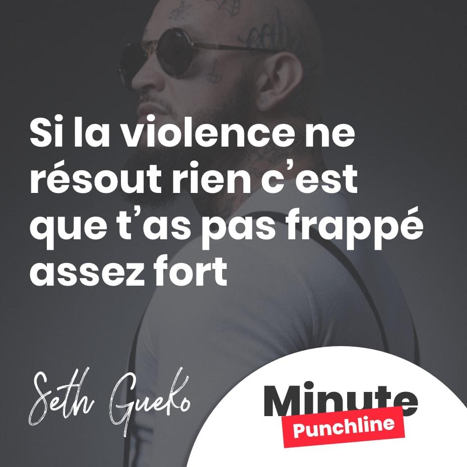 Si la violence ne résout rien c'est que t'as pas frappé assez fort