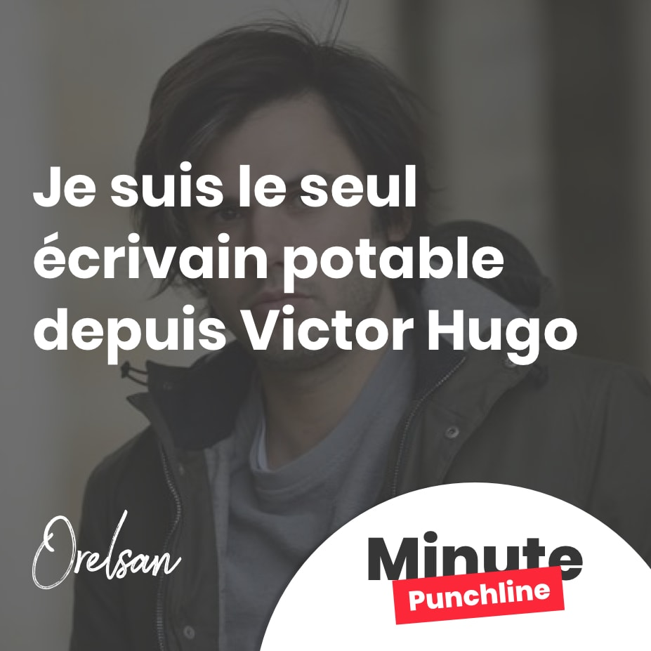 Je suis le seul écrivain potable depuis Victor Hugo