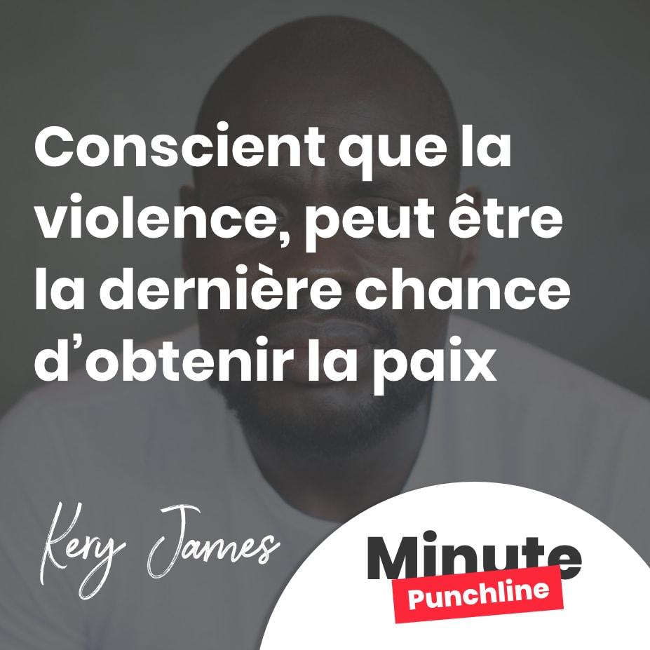 Conscient que la violence, peut être la dernière chance d'obtenir la paix