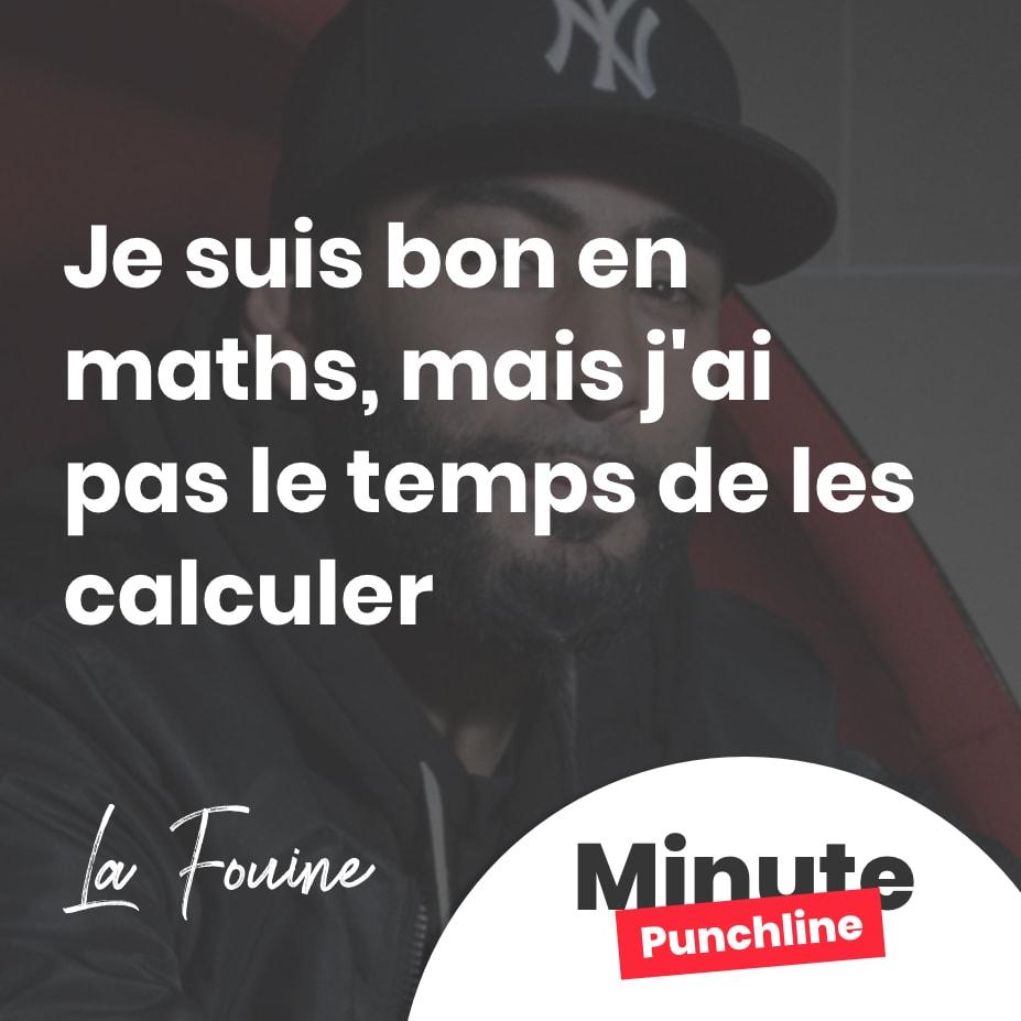 Je suis bon en maths, mais j'ai pas le temps de les calculer