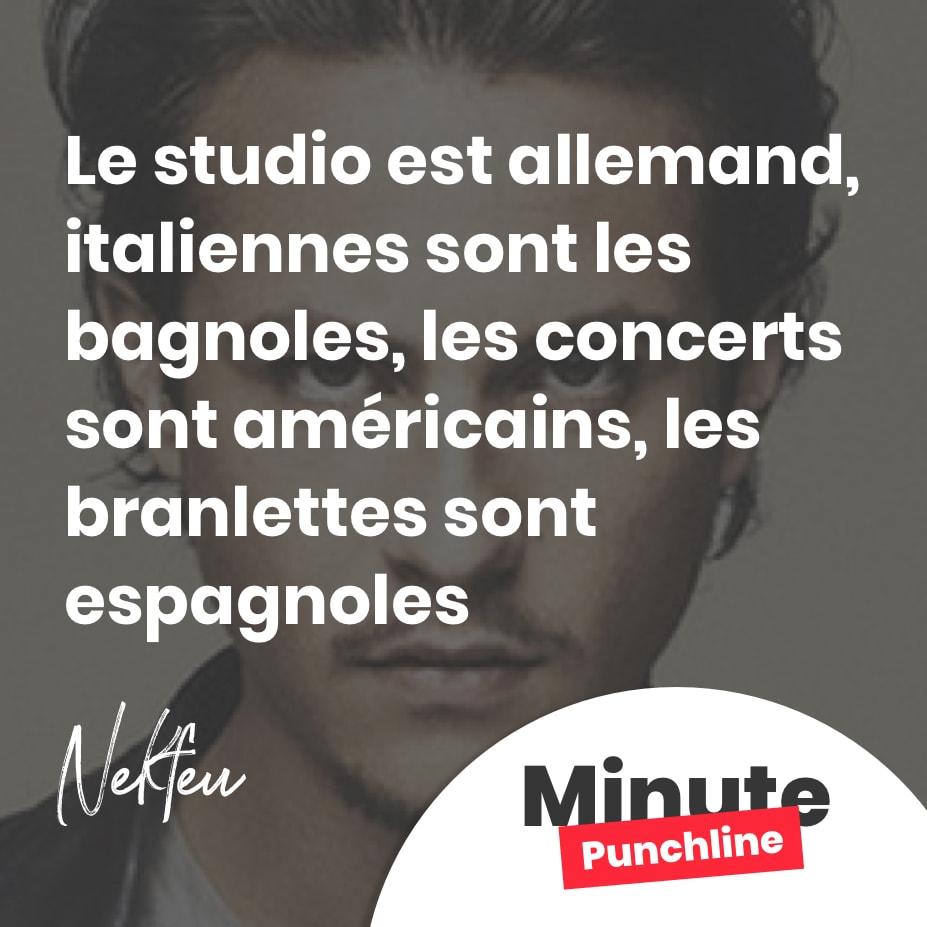 Le studio est allemand, italiennes sont les bagnoles, les concerts sont américains, les branlettes sont espagnoles