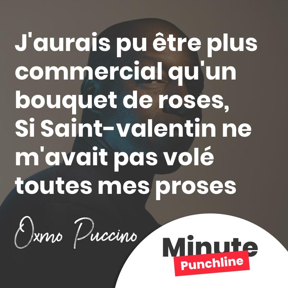 J'aurais pu etre plus commercial qu'un bouquet de roses, Si st valentin m'avais pas volé toutes mes proses