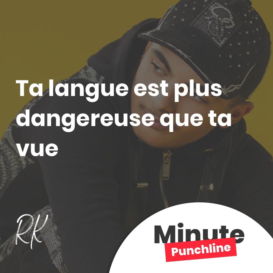 Ta langue est plus dangereuse que ta vue