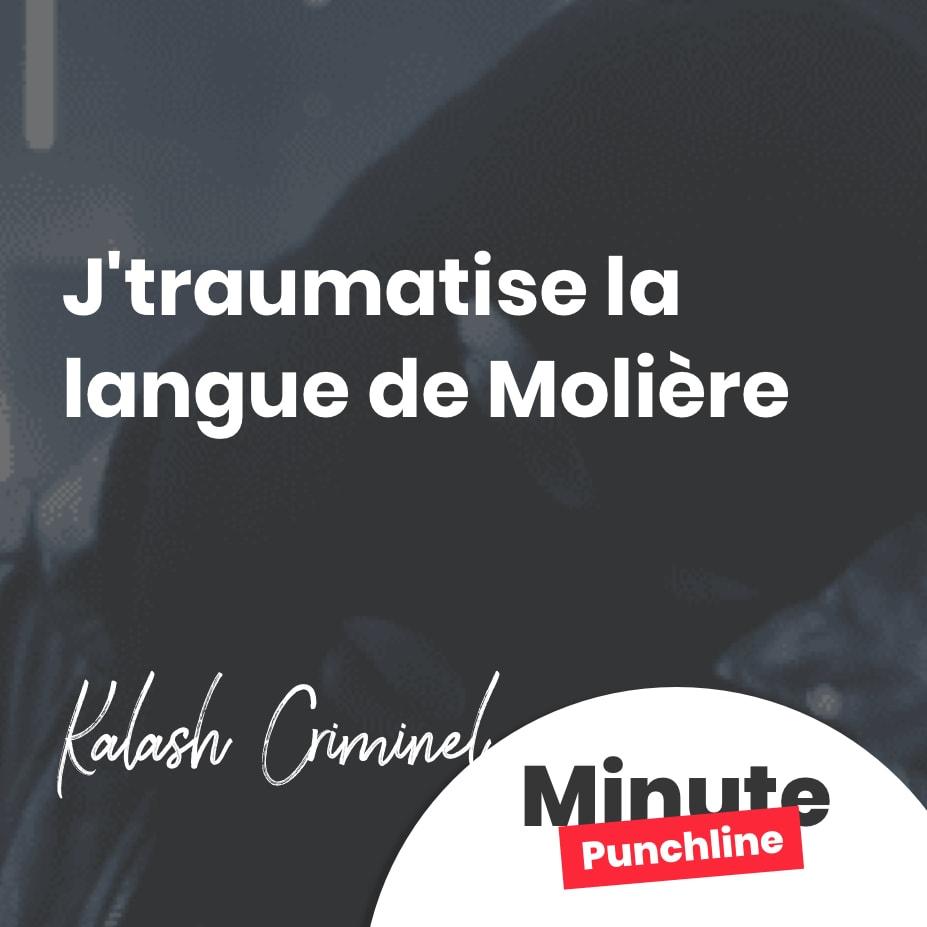 J'traumatise la langue de Molière