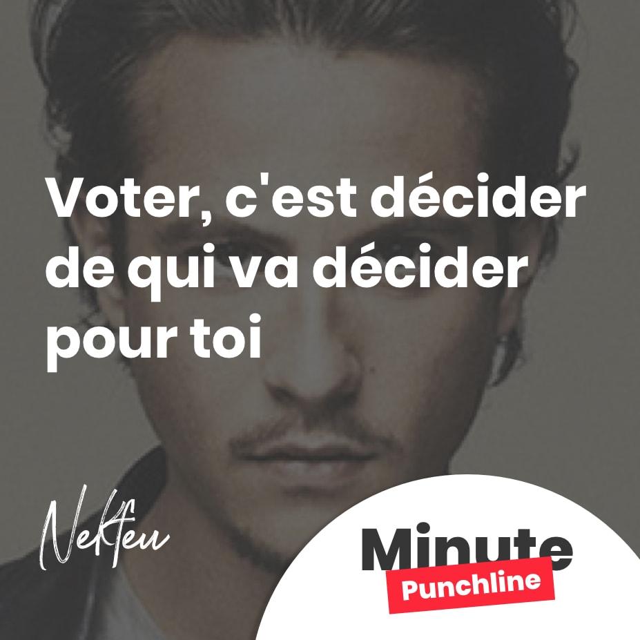 Voter, c'est décider de qui va décider pour toi