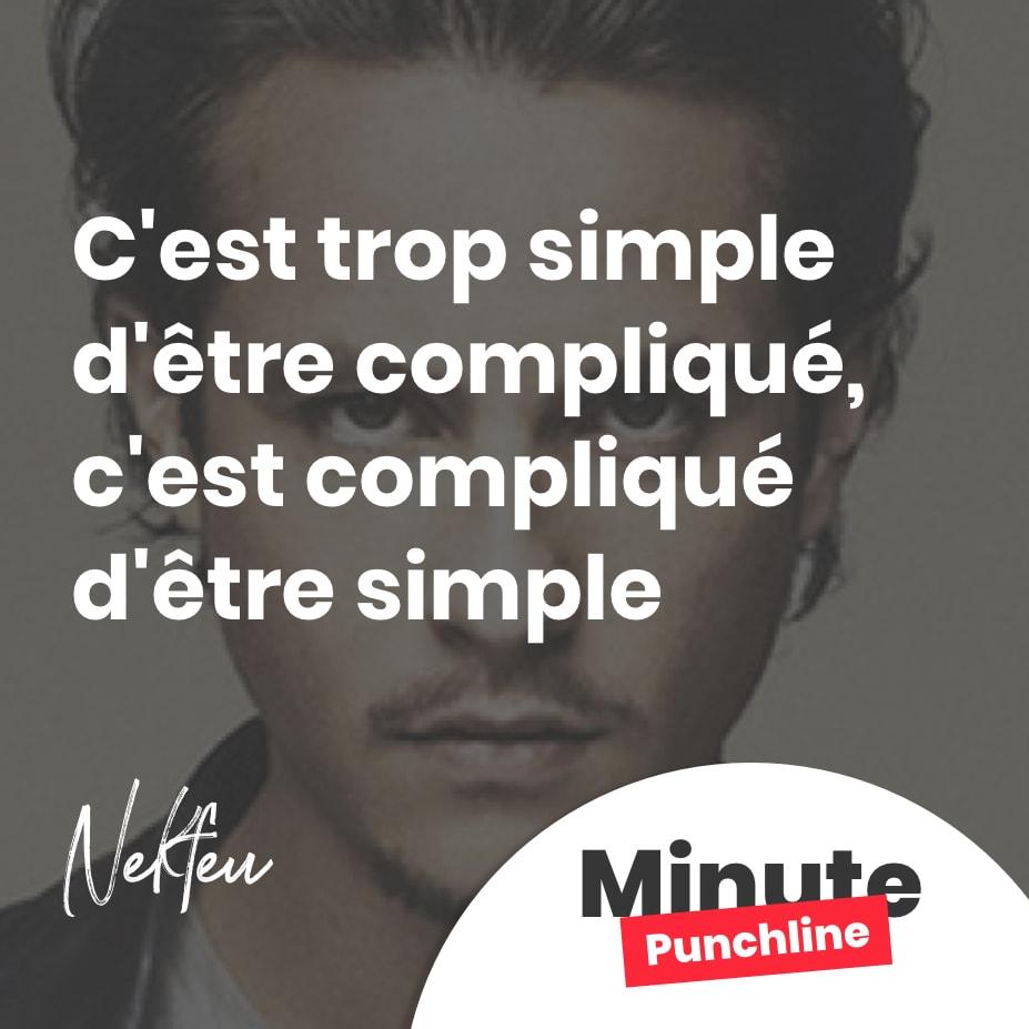 C'est trop simple d'être compliqué, c'est compliqué d'être simple