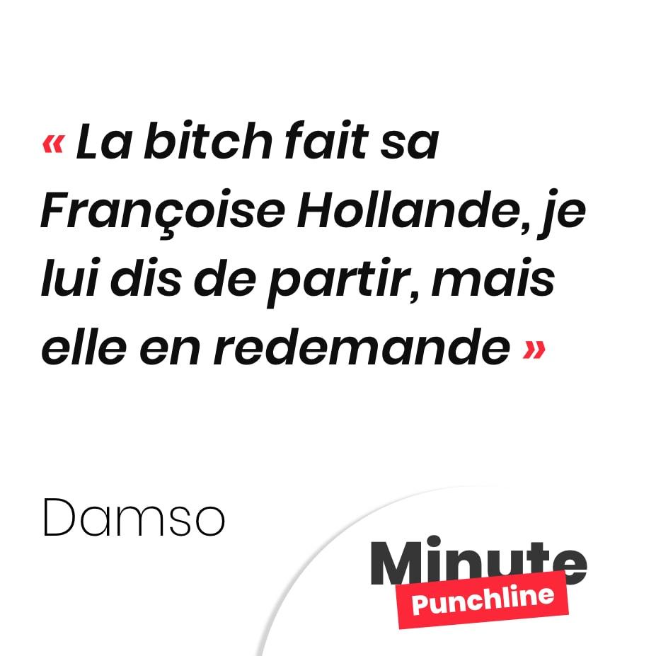La bitch fait sa Françoise Hollande, je lui dis de partir, mais elle en redemande