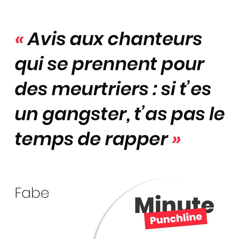 Avis aux chanteurs qui se prennent pour des meurtriers : si t'es un gangster, t'as pas le temps de rapper