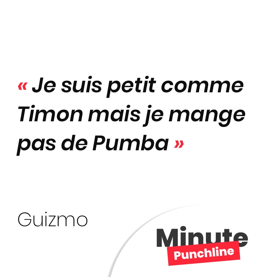 Je suis petit comme Timon mais je mange pas de Pumba