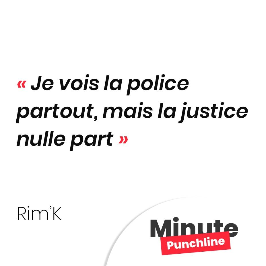 Je vois la police partout, mais la justice nulle part