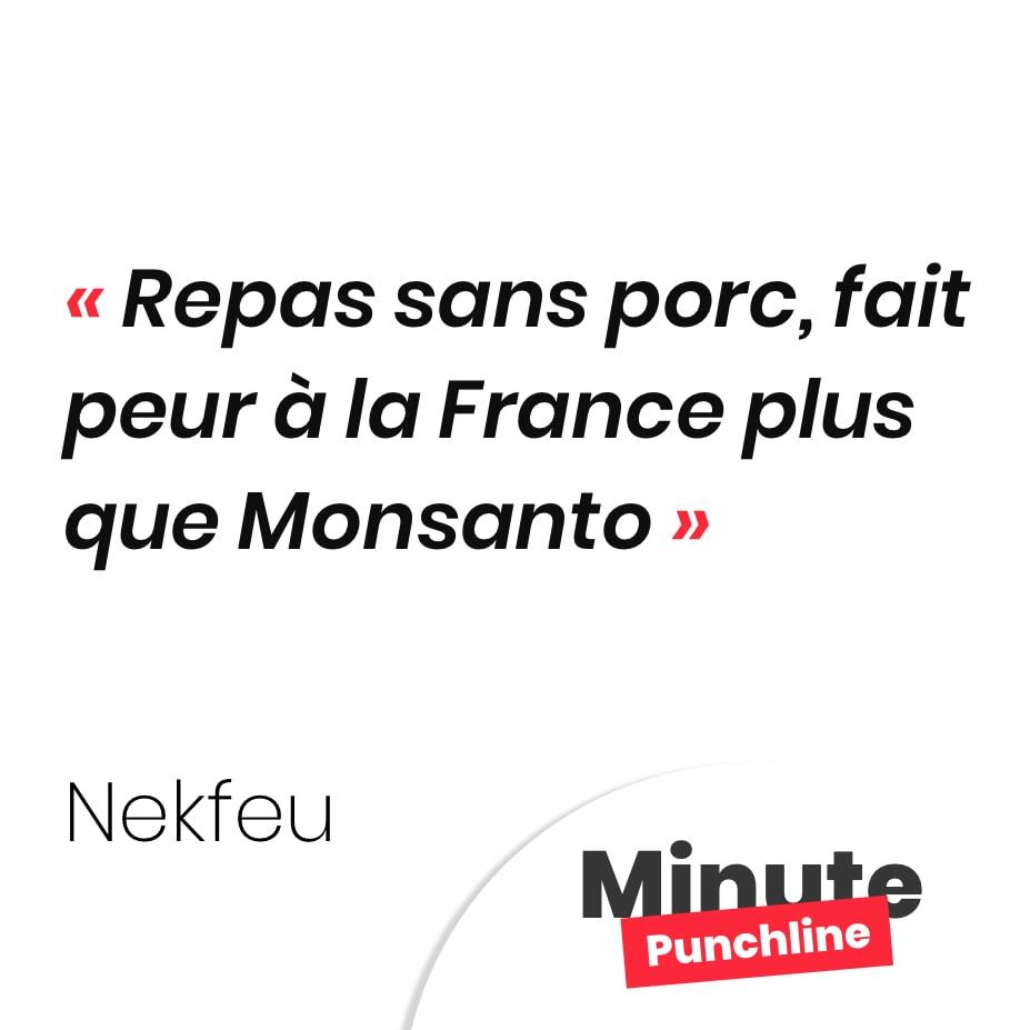 Repas sans porc, fait peur à la France plus que Monsanto