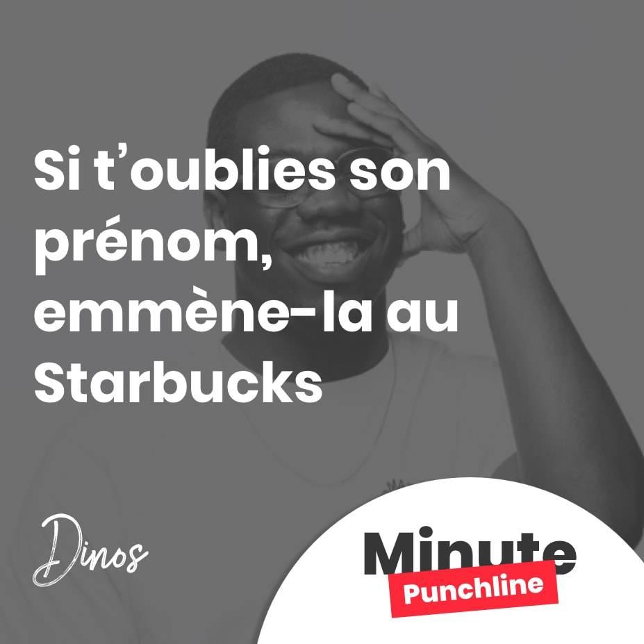 Si t'oublies son prénom, emmène-la au Starbucks