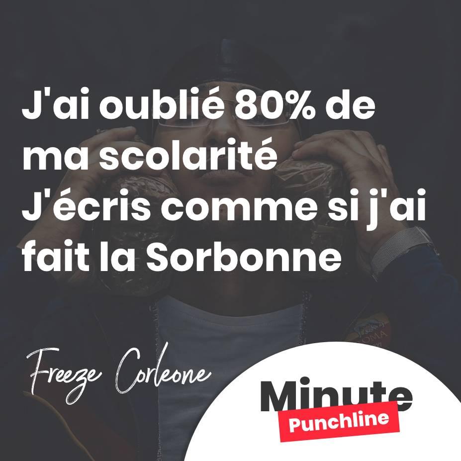 J'ai oublié 80% de ma scolarité J'écris comme si j'ai fait la Sorbonne