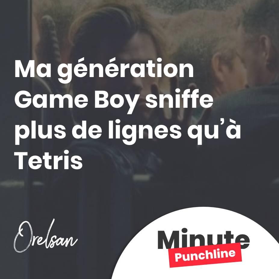 Ma génération Game Boy sniffe plus de lignes qu'à Tetris